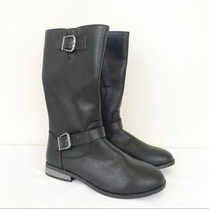 New Cat & Jack Black Tall Riding Boots Size 4